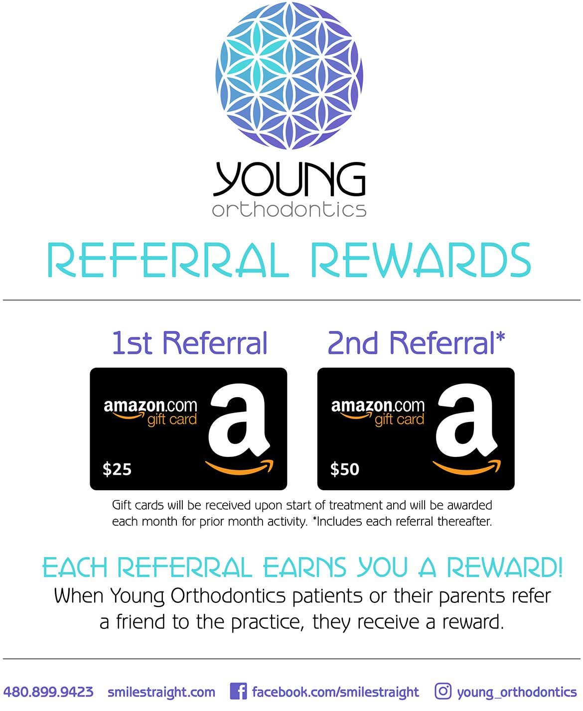 Young Orthodontics Referral Rewards